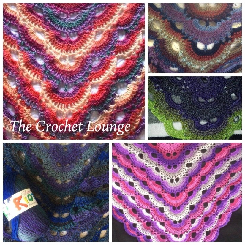 Crochet virus shawl