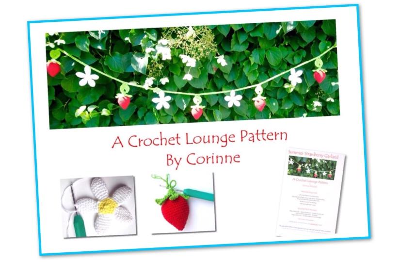 Strawberry Garland Crochet Pattern